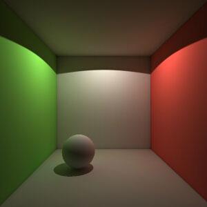 Эта сцена очень легкая для алгоритма глобального освещения ...: http://3dcenter.ru/tutors/read.php?sname=vray&articlealias=photon_mapping